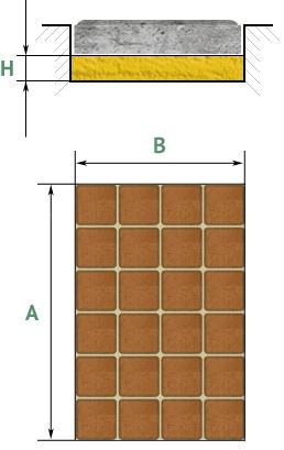 Расчет тротуарной плитки