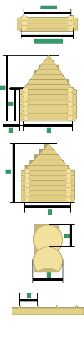 Рассчитать деревянный сруб