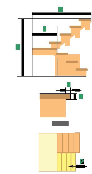 Деревянная лестница с поворотом на 180 град