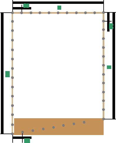 Забор из сетки рабицы, дерева и профнастила