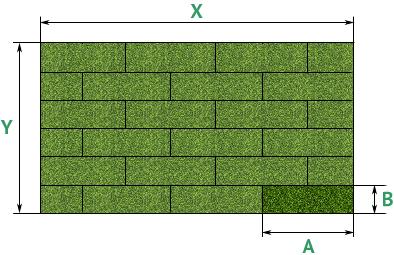 Расчет рулонного газона